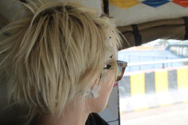 Blonde in India