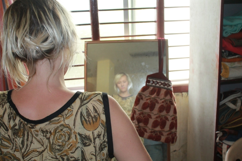Trying on my Dress at Sabala