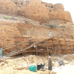 Scaffolding, Jaisalmer Fort, India