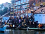 Bathing and prayer, Varanasi, India