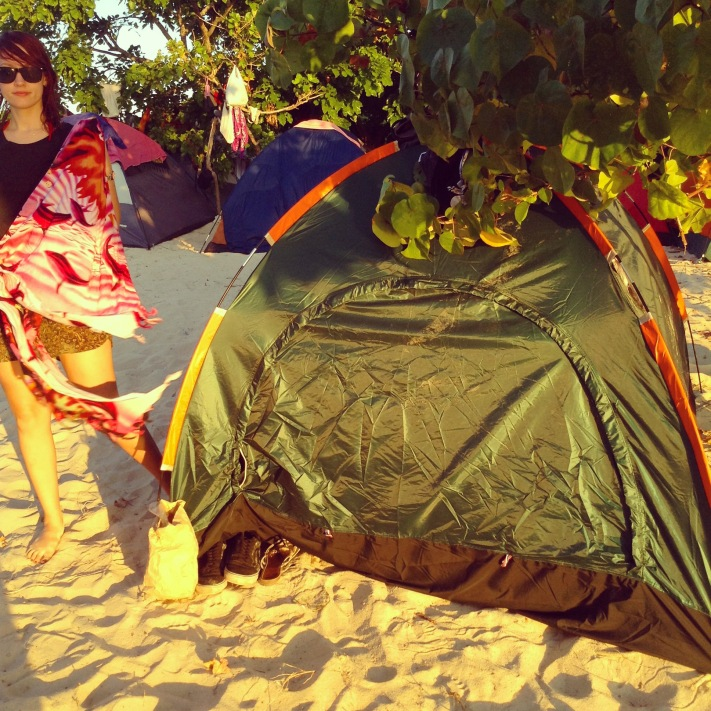 Camping on the beach #calaguas #philippines