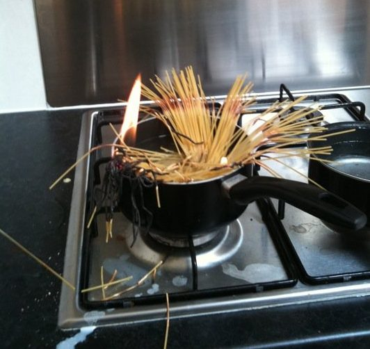 Setting Pasta On Fire While At University